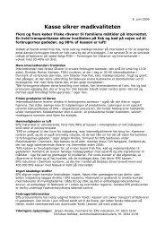 Kasse sikrer madkvaliteten - Plastindustrien