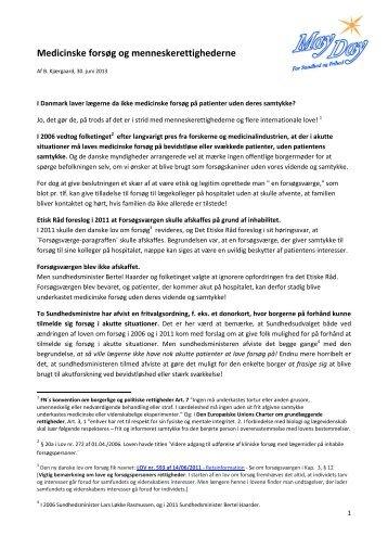 Download artiklen som pdf for udskrift til uddeling / ophæng - MayDay