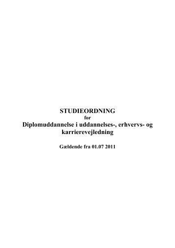 STUDIEORDNING Diplomuddannelse i uddannelses-, erhvervs- og ...
