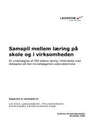 Samspil mellem læring på skole og i virksomheden (pdf) - Lederne