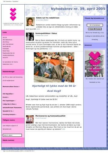 Nyhedsbrev - Landsforeningen for bøsser og lesbiske