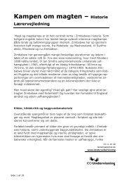 Kampen om magten – Historie Lærervejledning - Operation Dagsværk