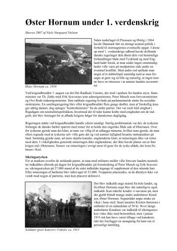 Øster Hornum under 1. verdenskrig - Øster Hornum Portalen