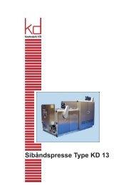 Sibåndspresse Type KD 13 - KD Maskinfabrik A/S