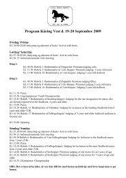 Program Kåring Vest d. 19-20 September 2009