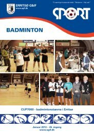 BADMINTON - Erritsø Gymnastik- & Idrætsforening