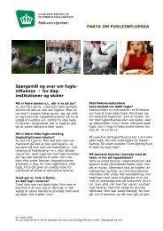 FAKTA OM FUGLEINFLUENZA Spørgsmål og svar ... - Altomkost.dk