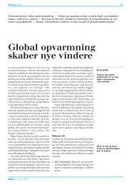 Global opvarmning skaber nye vindere