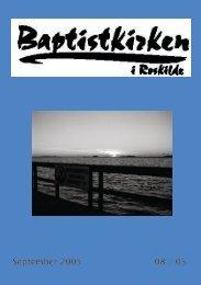 September 2005 08 / 05 - Roskilde Baptistkirke