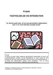 Projektrapport - SOSU Nykøbing Falster