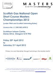 2012 Scottish Gas Masters SC Swimming Championships Meet ...
