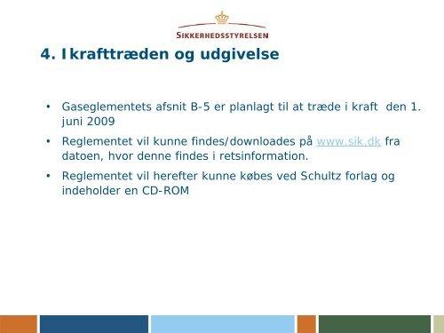 Nyt Gasreglement B-5 Installationsforskrifter for F-gas
