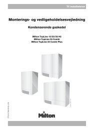 Monterings- og vedligeholdelsesvejledning - Milton