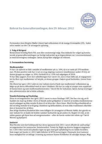 Referat fra generalforsamlingen 2012