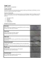 Websider fra Læderbo om læderproduktion generelt. - Materials.dk