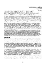 GRUNDVANDSFORVALTNING I DANMARK - GEUS