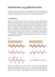 tillaeg interferens og gitterformlen - matematikfysik