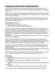 Indregulering af PI(D) regulator i en NBE pillebrænder. - MHES