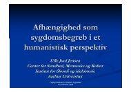 13.00 Afhængighed som sygdomsbegreb i et humanistisk perspektiv ...