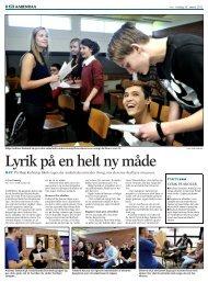 Lyrik på en helt ny måde - Høje Kolstrup Skole