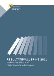 RESULTATEVALUERING 2011 - Center for boligsocial udvikling