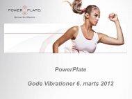Sales Presentation - fitnessbutikken