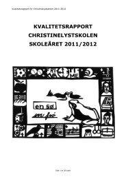 Kvalitetsrapport 2011 12 Christinelyst - Christinelystskolen - Lemvig ...