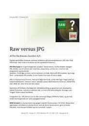 Artikel om RAW versus JPG - Goecker