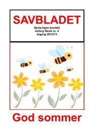 bladet sommer 2013.pdf - Skoleporten Asferg Skole