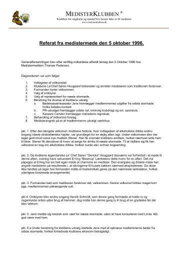 Mødereferat 051096 - medisterklubben