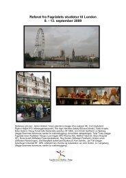 Referat fra Fagrådets studietur til London 8. - 13. september 2009