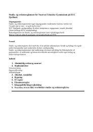 Studie- og ordensreglement for de tekniske ... - EUC Sjælland