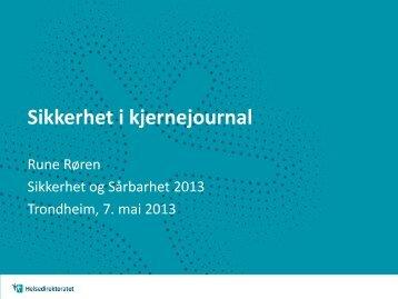 Last ned Runes presentasjon - Den Norske Dataforening