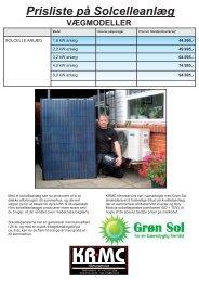Solcelle anlæg - Priser - krmc-cool.dk
