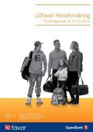 Last ned forsikringsvilkår for LOfavør Reiseforsikring, standard og topp