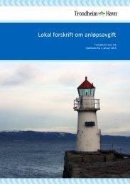 Lokal forskrift om anløpsavgift - Trondheim Havn