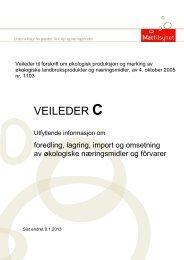 Forskrift om produksjon og merking av økologiske ... - Mattilsynet