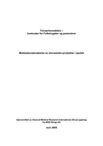 Generisk bytte av simvastatin - MSD Norge AS