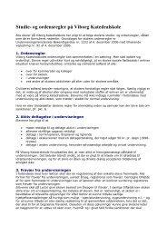Studie- og ordensregler på Viborg Katedralskole
