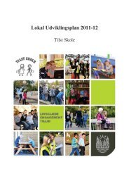 Lokal Udviklingsplan 2011-12 - Tilst Skole