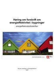 Høring om forskrift om energieffektivitet i bygninger - Energimerking.no