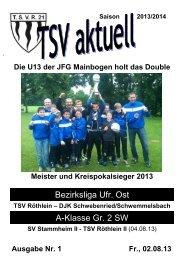 TSV aktuell Nr. 1 2013/14