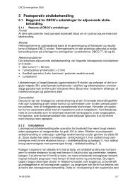 5 Postoperativ strålebehandling - DBCG