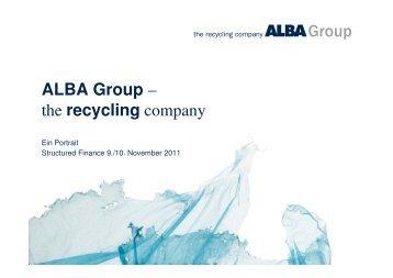 Präsentation Structured Finance ALBA Porträt [kompatibilitätsmodus]