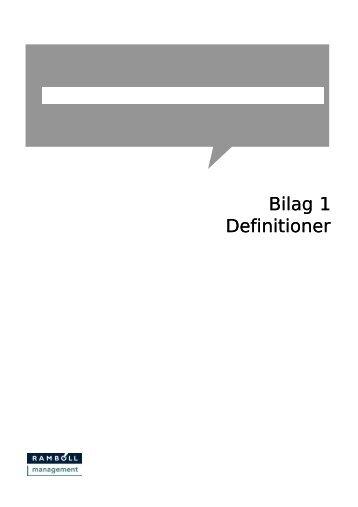 Bilag 1 Definitioner - Sydtrafik