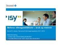 Øyvind N. Jensen, Norconsult Informasjonssystemer 26.11 ... - Bellona
