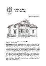 Medlemsblad 2-2012 - Oppegård Historielag