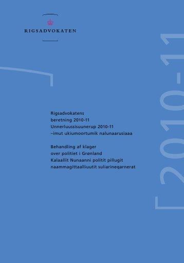 """Læs eller download """"Beretning 2010-2011 vedr ... - Rigsadvokaten"""