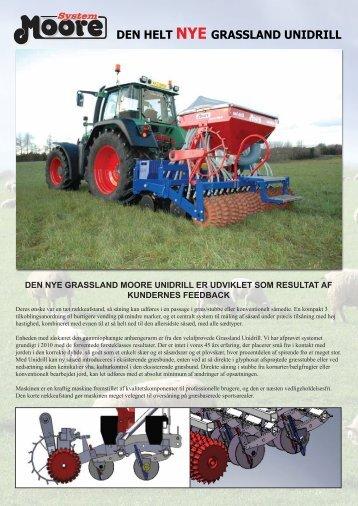 Moore Uni-drill Grassland Danish Leaflet
