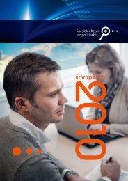 Årsrapport 2010 - Spesialenheten for politisaker